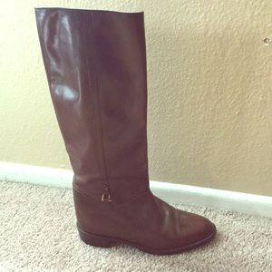 Vintage Gucci Irene Brown Leather Riding Boots